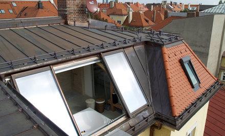 Krásně zpracovaná střecha s posuvným prosklením